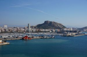 Alicante castle and city