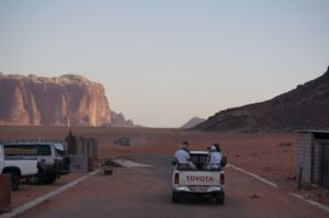 End of the road at Wadi Rum