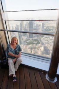 Jo at Burj Khalifa