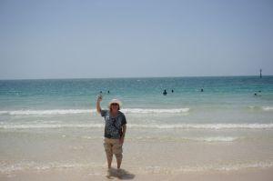 Wading in Persian Gulf